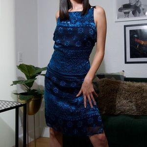 Dresses & Skirts - Blue Velvet Dress